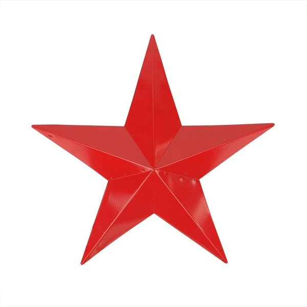 """15"""" Scarlet Red Country Rustic Star Indoor/Outdoor Wall Decoration"""