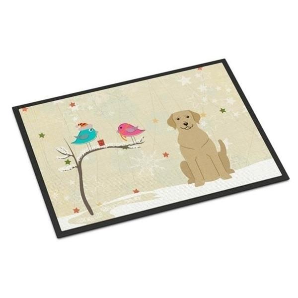Carolines Treasures BB2527JMAT Christmas Presents Between Friends Yellow Labrador Indoor or Outdoor Mat 24 x 0.25 x 36 in.