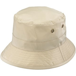 Henschel Waterproof Packable Rain Bucket Hat - Tan