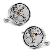 Steampunk Silver Watch Movement Cufflinks