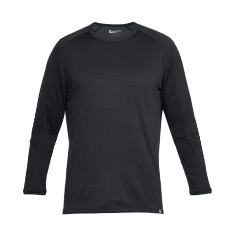 Under Armour Mens Activewear Black Small S Lighter Longer Fitted L/S Tee