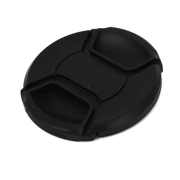 Unique Bargains Black Plastic 67mm Center Pinch Lens Cap Cover for DLSR Digital Cameras