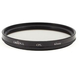 Unique Bargains Black Aluminum Frame 62mm Circular Polarizing CPL Lens Filter w Case
