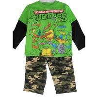 Nickelodeon Little Boys Green Ninja Turtles Camouflage 2 Pc Pants Set 2T-5
