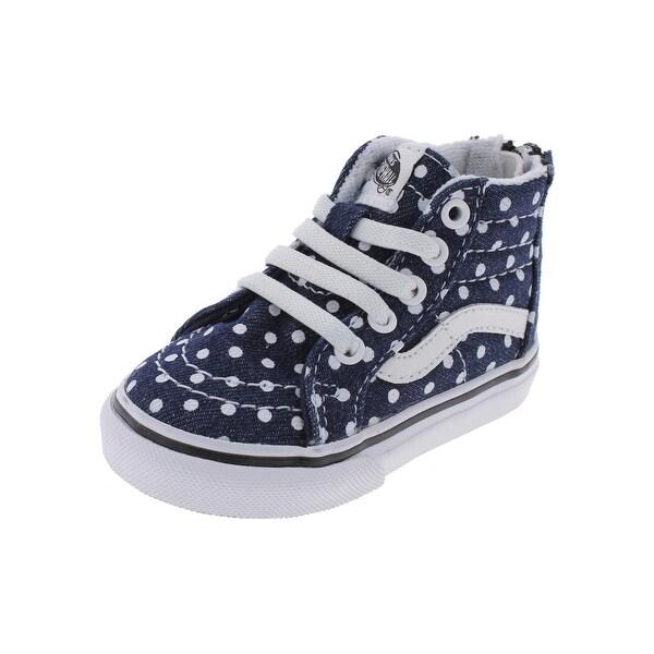 928f903003 Shop Vans Girls Sk8 Hi Skate Shoes Polka Dot Lace Up - 4 medium (b