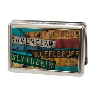 Hogwarts House Banners Stacked Fcg Business Card Holder