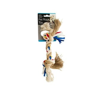 Bulk Buys DI245-24 Medium Colorful Knotted Pet Rope Toy, 24 Piece