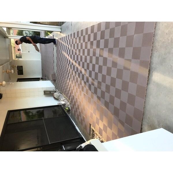 ... BlockTile Deck And Patio Flooring Interlocking Perforated Tiles (Pack  Of 30) ...