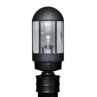 Costaluz 3151-POST 1 Light Incandescent Post Light with Clear Glass Shade