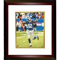 Mario Manningham signed New York Giants 16X20 Photo Custom Framed Manningham Hologram