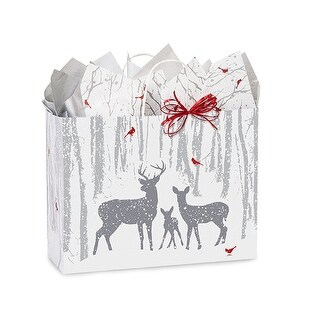 """Pack of 25, Vogue Woodland Frost Bags 16 X 6 X 12.5"""" 100% Recyclable, Made In Usa"""