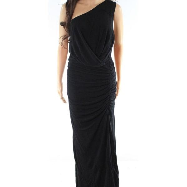 Shop ABS by Allen Schwartz Womens Plus One Shoulder Gown - Free ...