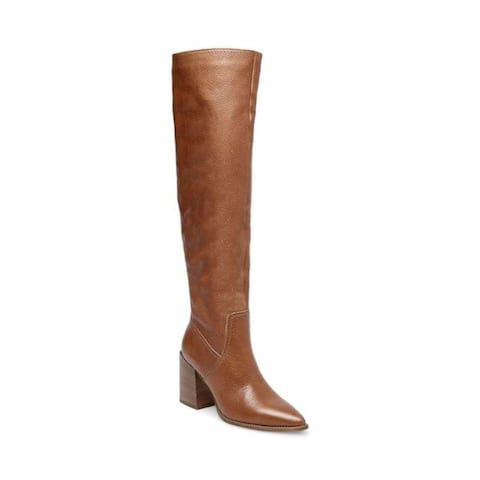Steve Madden Womens Essential Leather Pointed Toe Knee High Fashion Boots