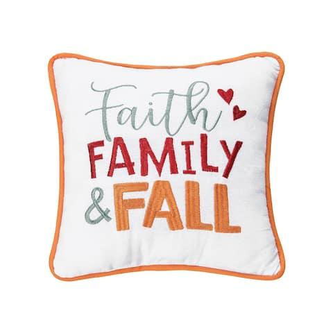 Faith, Family, Fall Pillow
