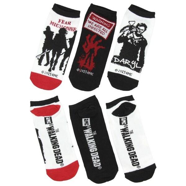 Walking Dead Fear Michonne 3 Pack Low Cut Socks