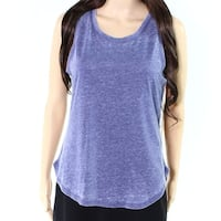 Roudelain Blue Womens Size Medium M Vintage Wash Knit Tank Top