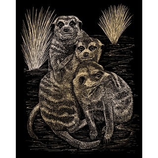 "Gold Foil Engraving Art Kit 8""X10""-Meer Cats"