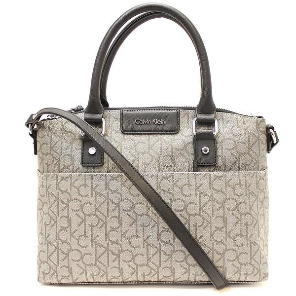 b1644fe556 Shop Calvin Klein Hudson CK Monogram Satchel - One size - Free Shipping  Today - Overstock - 21683093