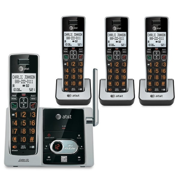 At&T Cl82413 4 Handset Cordless Answering System With Caller Id/Call Waiting