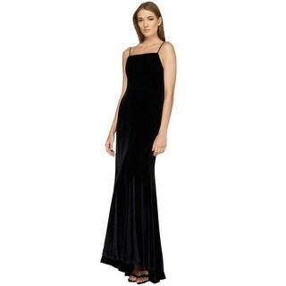 Fame and Partners Velvet Draped Back Evening Gown Dress