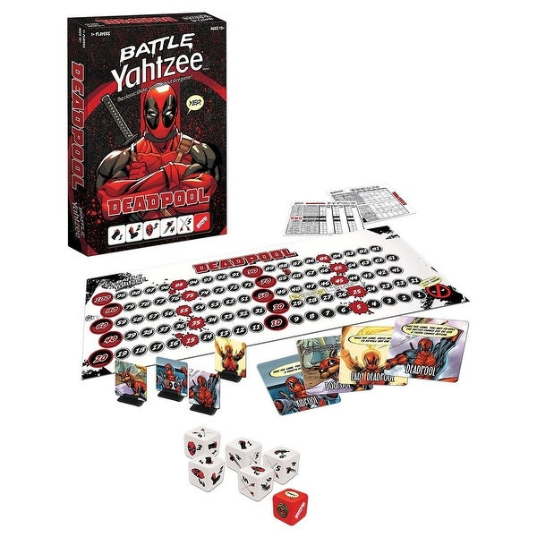 Marvel Deadpool Battle Yahtzee Dice Game