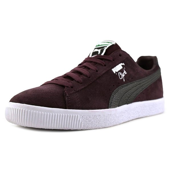 a4a2bf18a8ea Shop Puma Clyde B C Men Round Toe Suede Purple Sneakers - Free ...