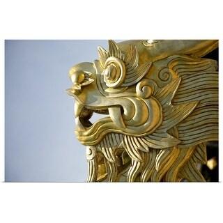 """Gold Dragon"" Poster Print"