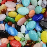 Czech Glass Oval Bead Mix in Assorted Colors & Sizes (1 Oz)