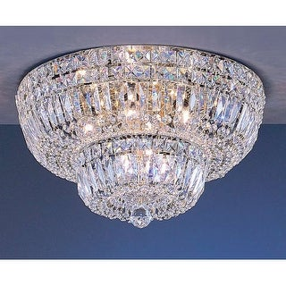 "Classic Lighting 53418 Empress 9 Light 18"" Wide Flush Mount Crystal Ceiling Fixture"