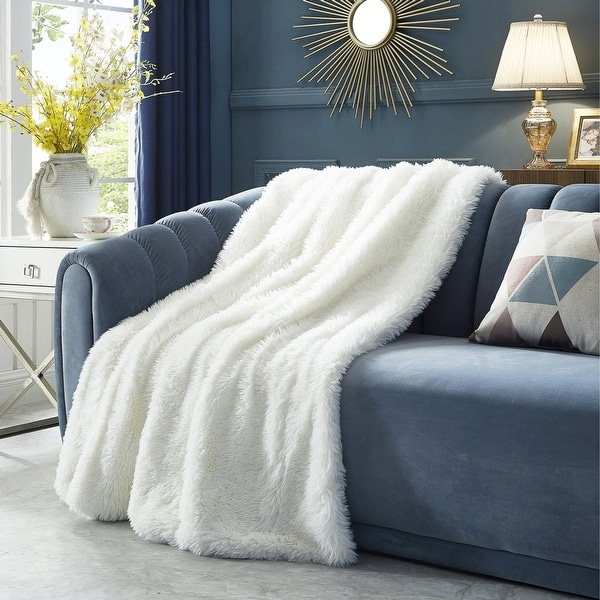 "Pauhai 50""x60"" Faux Lamb Fur Throw. Opens flyout."