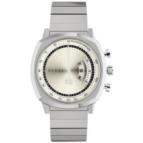 Men's Swiss Chronograph Grip Stainless Steel Bracelet Watch - N/A