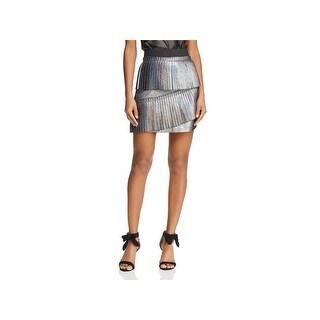 Parker Womens Joss Mini Skirt Metallic Party