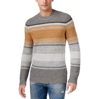 Tommy Hilfiger Mens Stanley Crewneck Sweater Striped Crochet