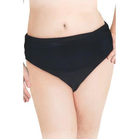 Magicsuit Womens Layered High Waist Swim Bottom Separates - Black - 14