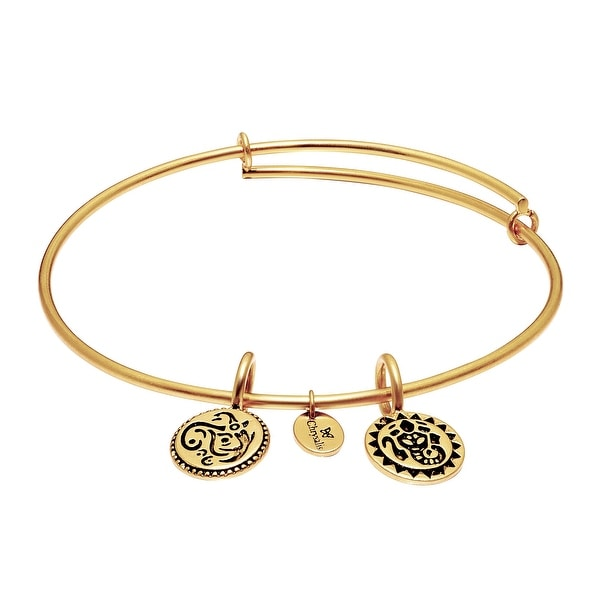 Chrysalis 'Lucky Ganesh' Expandable Bangle in 14K Gold-Plated Brass - YELLOW