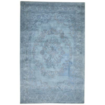 """One of a Kind Hand-Tufted Persian 5' x 8' Oriental Wool Blue Rug - 5'1""""x7'11"""""""