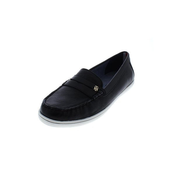 9a21dc65542 Shop Tommy Hilfiger Womens Butter 4 Penny Loafers Leather Padded ...