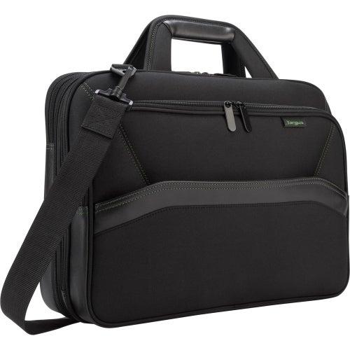 """Targus Targus EcoSmart Topload, Black Targus Spruce Carrying Case (Briefcase) for 16"" Notebook - Black - Drop Resistant -"