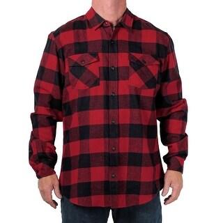 Burnside Young Men's Buffalo Plaid Flannel Shirt