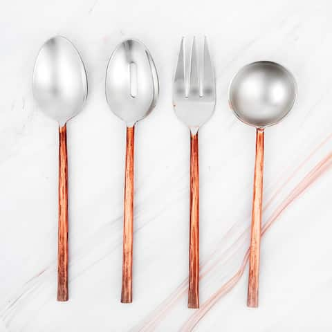 INOX Sundance Copper Antique Hostess Set