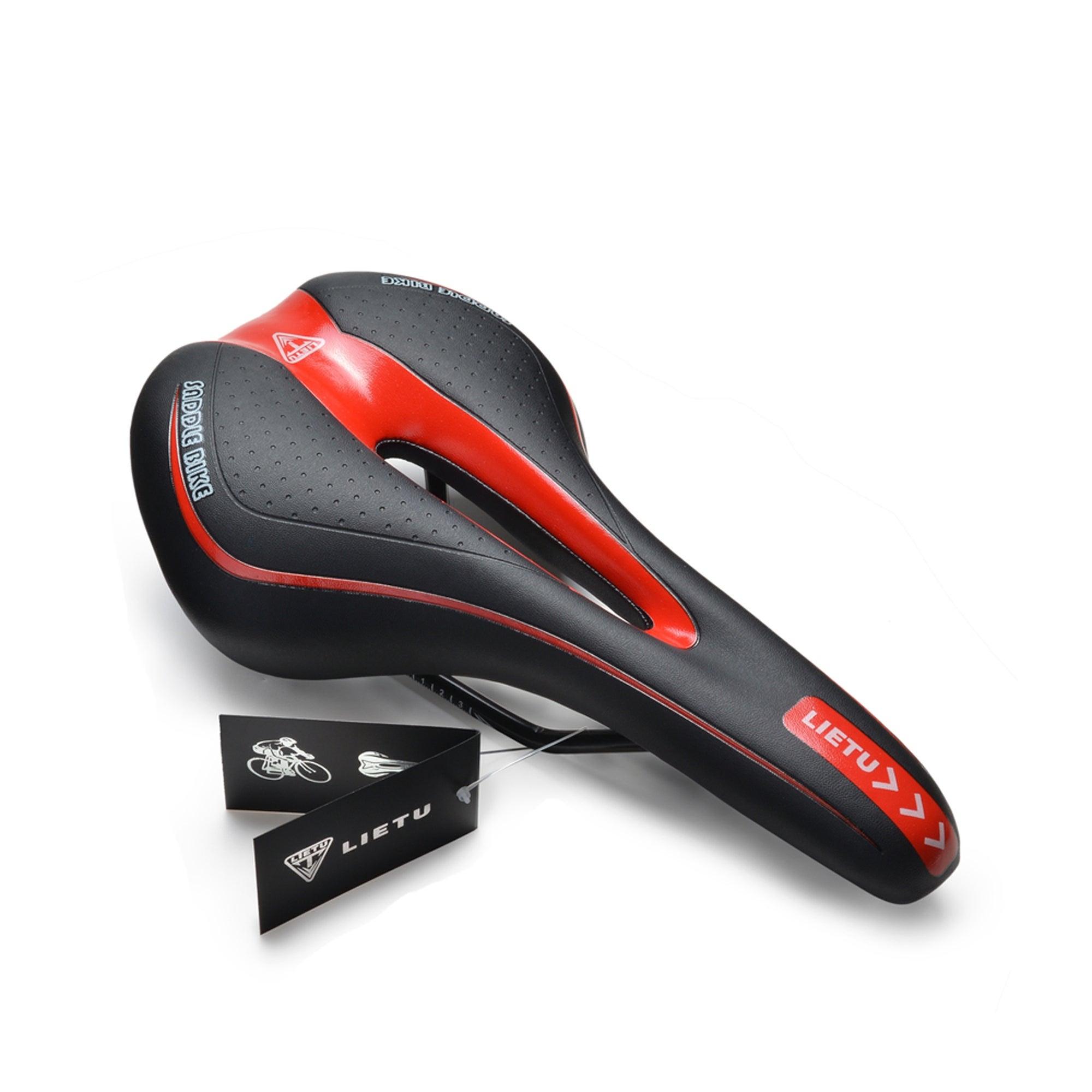 Red Comfort Soft Cushion Pad Saddle Bike Road Mountain MTB Bicycle Cycling Seat