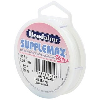 Beadalon - SuppleMax Ultra Stringing Cord - .30 mm - White
