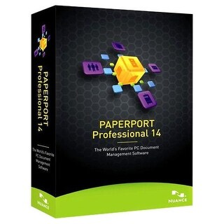 """""""Nuance F309A-G00-14.0 Nuance PaperPort v.14.0 Professional - Complete Product - 1 User - Document Management - Standard Box"""