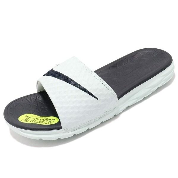 sports shoes 22aa6 0df89 Nike Women  x27 s Benassi Solarsoft Slide Sandal, Igloo Obsidian, ...