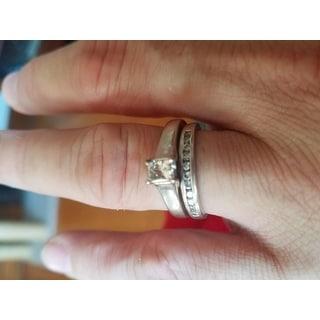 Annello 14k White Gold 1ct TDW Diamond Bridal Ring Set