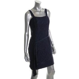 Lauren Ralph Lauren Womens Petites Lace Sleeveless Cocktail Dress - 14P