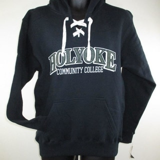Holyoke Cougars Adult Sizes S L Navy Blue Hoodie By J America