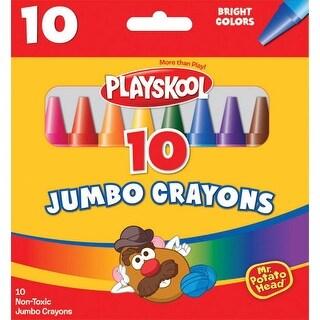 Playskool Jumbo Crayons, Assorted Colors, Set of 10