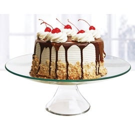 "Palais Glassware Elegent Glass Cupcake or Cake Stand - Party Centerpiece (12"", Round)"