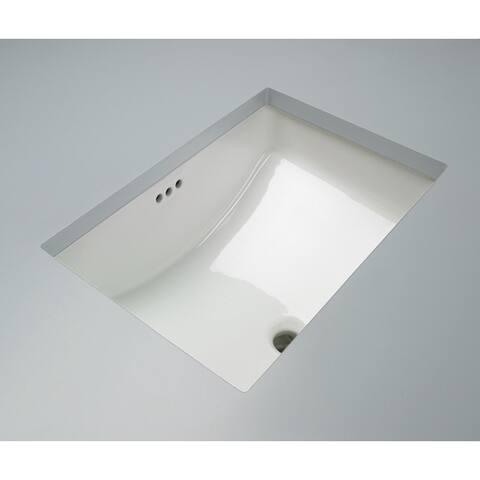 "Mirabelle MIRU2114A Myers 20-7/8"" Undermount Bathroom Sink with Overflow - White"